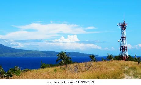 Sinandigan lighthouse hilltop at Sabang, Puerto Galera, Oriental Mindoro, Philippines