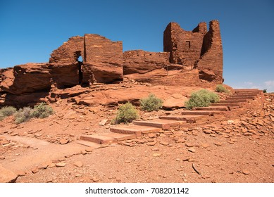 Sinaqua Ruins of the Wukoki pueblo in Wupatki National Monument, Arizona, USA