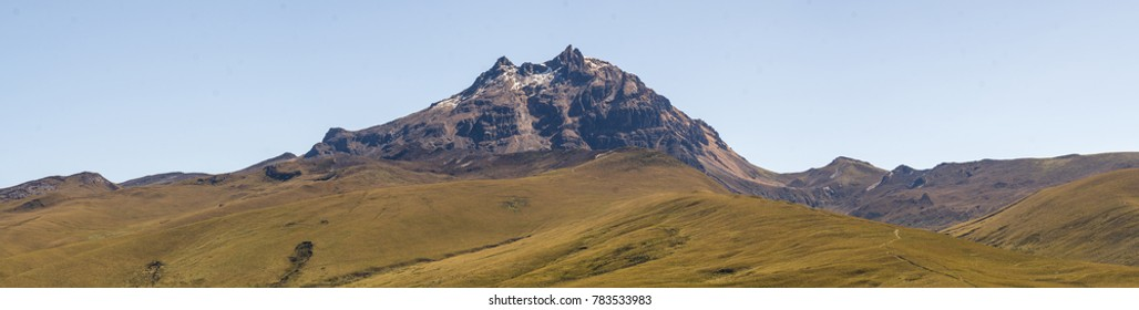 Sincholagua Volcano (4,899m) in the Ecuadorian Andes Situated south of Quito in Cotopaxi National Park.