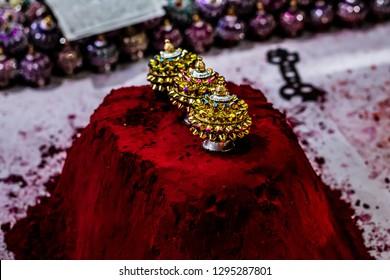Sindoor - Red vermilion powder worn by married Indian women