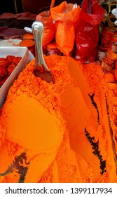 Sindoor (vermilion), Orange powder of vermilion. Sign of a married woman in Hindu's or Indian's.