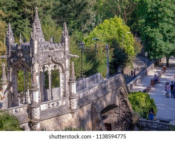 Sindra/Portugal 06/06/18 Quinta da Regaleira  is an estate located near the historic center of Sintra, Portugal. It is classified as a World Heritage Site by UNESCO