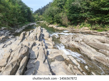 Sine Wiry ( Wetlina river gorge) National Park - a nature reserve located in  municipalities of Cisna and Solina, Bieszczady Mountains, Poland