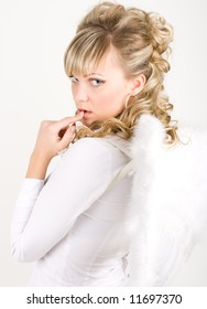 Sinful angel by young sexy woman