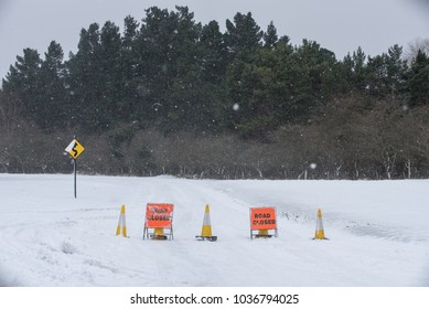 Sing Road close in winter time