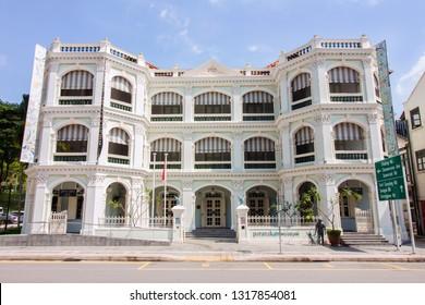 Singapore 02/02/2019 - Peranakan Museum in Singapore specialise in displaying Peranakan or Baba & Nyonya Heritage culture
