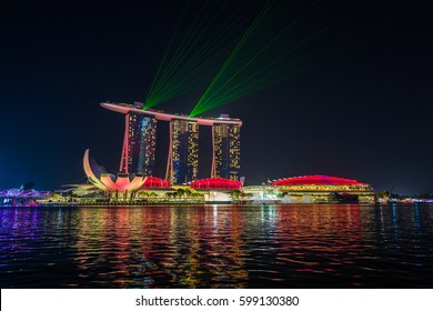 Singapore, 05 March 2017: famous marina bay sands hotel circa at singapore.