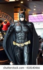 SINGAPORE - 07 MAY 2016 - Model of Batman displays at the Shoppes at Marina Bay Sands