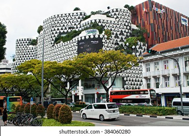 SINGAPORE - 08 JAN 2014:Capital mall trust big shopping mall with person and tourism popular in bugis singapore.