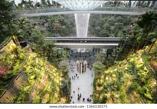 Singapore 11 Apr 2019 Rain Vortex Stock Photo (Edit Now