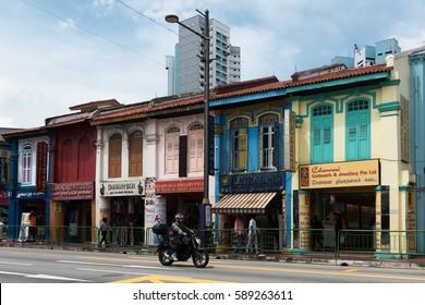 SINGAPORE, 12/29/2016 --  Street scene from Kampong Glam neigborhood in Singapore.