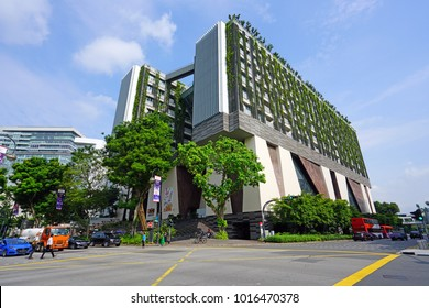 SINGAPORE -15 DEC 2017- Located on Zubir Said Drive, the School of the Arts Singapore (SOTA) is a middle school and high school specializing in an integrated arts curriculum.
