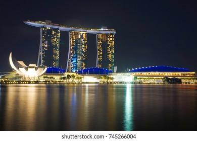 Singapore - 18 July 2016. Marina Bay Sands Hotel