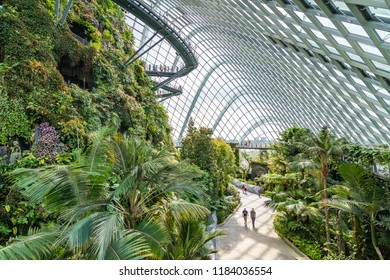 Singapore - 19 September, 2017: Cloud Forest, Gardens by the Bay.