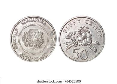 Singapore 1990, 50 cents