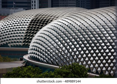 SINGAPORE 2 April 2016 -Roof of Singapore's famous Esplanade Theaters on the Bay