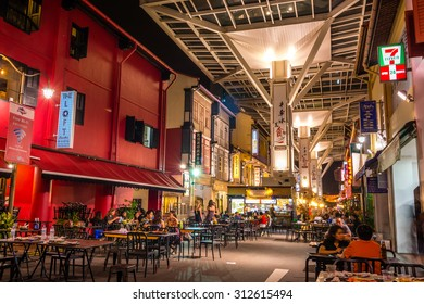 SINGAPORE - 20 May 2015 :Chinatown Food Street located on Smith Street in the heart of Chinatown,