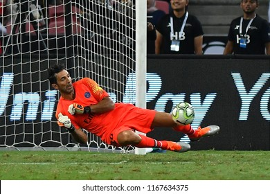 Singapore, 2018 July 28 : An action of match between Arsenal and Paris Saint-Germain during International Champions Cup 2018 at Singapore Sports Hub
