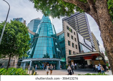 SINGAPORE - 21 May 2015 :Orchard Road is a 2.2 kilometre-long boulevard that is the retail and entertainment hub of Singapore.