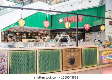 Singapore - 24th December 2018: The Nam Nam Vietnamese coffee shop in Singapura shopping mall. There are many coffee shops in the city.