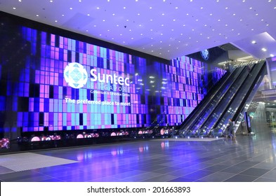 SINGAPORE - 26 May, 2014: Suntec City Convention and Exhibition Centre. Suntec City is a major multi-use development located in Marina Centre Singapore.