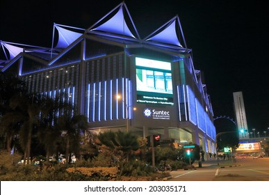 SINGAPORE - 26 May, 2014:Suntec City Convention and Exhibition Centre. Suntec City is a major multi-use development located in Marina Centre Singapore.