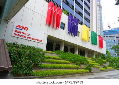 SINGAPORE -27 AUG 2019- View of the Ministry of National Development (MND) of the Republic of Singapore.
