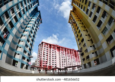 SINGAPORE, 28 JUL 2016: Prominent landmark of Rochor Centre, slated to be demolished in 2016 to make way for new highway.