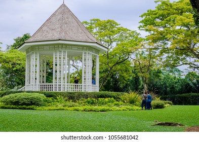 Singapore- 28 May 2017: The Singapore Botanic Gardens is a 158-year-old tropical garden. It is one of three gardens, and the only tropical garden, to be honoured as a UNESCO World Heritage Site.