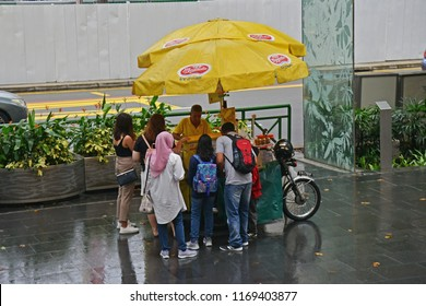 SINGAPORE - 29 June 2018 - Ice Cream Sandwich or Ice Cream Wafer Shop at Orchard Road