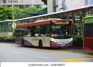SINGAPORE – 29 June 2018 – SBS Transit Bus (Public Bus) at Orchard Road.