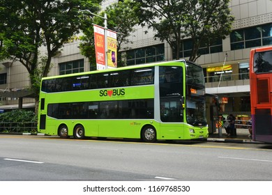 SINGAPORE – 29 June 2018 – SBS Transit Bus (Public Bus) at Orchard Road.