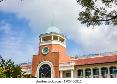 Singapore 30th Jan 2021: the campus of Nanyang Girls' High School.  A premier all-girls secondary school. Founded in 1917, it participates in the Integrated Programme with Hwa Chong Institution.