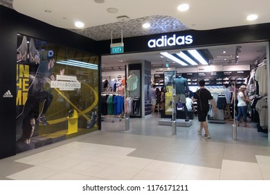 2480225c09e SINGAPORE - APR 21, 2018: Adidas retail store at Bugis shopping mall,  Singapore