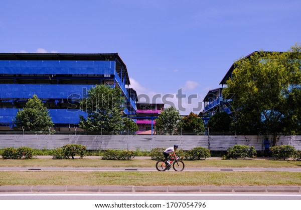 Singapore Apr2020 S11 Dormitory at Punggol; largest cluster of covid-19 cases found at this foreign worker dorm (Circuit breaker period; coronavirus outbreak)