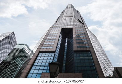 SINGAPORE - APRIL 13, 2019: Republic Plaza skyscraper in Downtown Core, Singapore's Financial District (also called Central Business District or CBD).