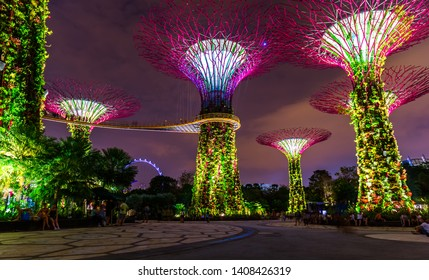 Singapore - April 14, 2016: Park Gardens by the Bay in Singapore.
