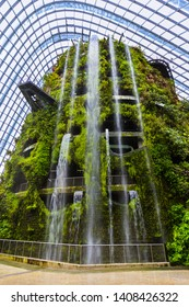 Singapore - April 15, 2016: Cloud Forest Dome at Gardens by the Bay in Singapore.