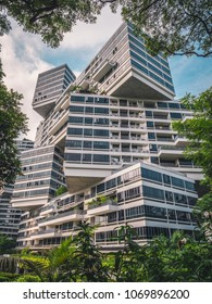 Singapore - April 2, 2018: Modern architecture in Singapore.