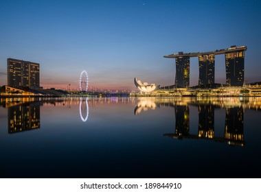 SINGAPORE -  April 23, 2014: Marina Bay Sands, World's most expensive standalone casino property in Singapore at S$8 billion on April 23, 2014