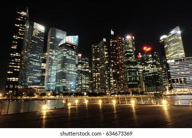 SINGAPORE - April 4, 2017: Bayfront, City scape