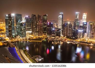 Singapore area at nite
