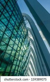 Singapore - Aug 29, 2013 : Abstract architecture shot of building exterior of Gardens by the Bay on Aug 29, 2013