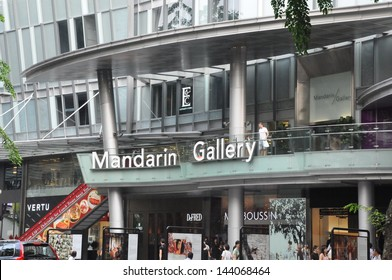 SINGAPORE - AUGUST 16: Mandarin Gallery on Orchard Road in Singapore on August 16, 2012. It is part of Mandarin Orchard Singapore a five-star hotel located at 333 Orchard Road in Singapore.