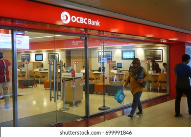 SINGAPORE - AUGUST 20, 2017: Customers waiting to be served in OCBC Bank in Singapore. OCBC oversea Chinese Banking Corporation is a financial services organization based in Singapore.