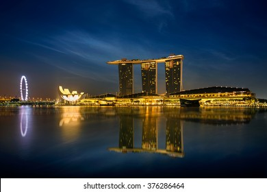 Singapore August 25, 2015 Marina bay in the morning, Singapore