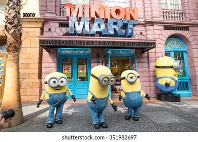 SINGAPORE - August 29 : Minion in Universal Studios Singapore on August 29, 2015 in Singapore