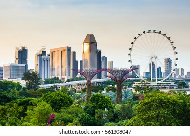 Singapore beautiful cityview from OCBC Skyway