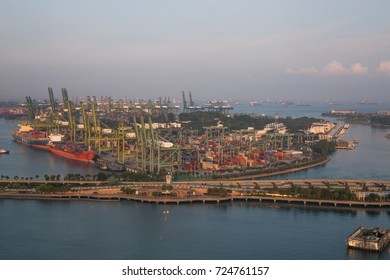 SINGAPORE CABLE CAR, SINGAPORE, SEPTEMBER, 2016: scenery of Singapore cable car