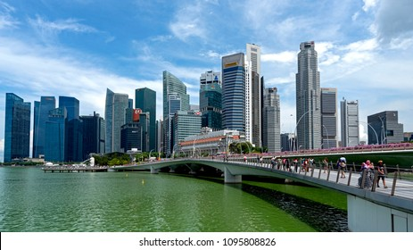 Singapore Central Business District, Ultra Modern City State in South East Asia, Singapore, May 20th 2018 - Singapore will host Donald Trump Kim Jong Un summit